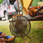 蒸し暑い夏のキャンプにこれ一台!