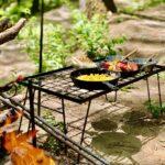 一台多役♡ラックやテーブル、焚き火周りにも使える折りたたみ式万能ラック‼︎