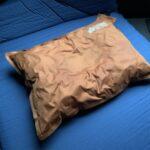 ロゴスの『セルフインフレートまくら』で、キャンプでも快適な睡眠を。